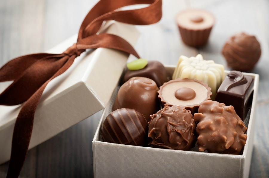 A box of assorted chocolates.
