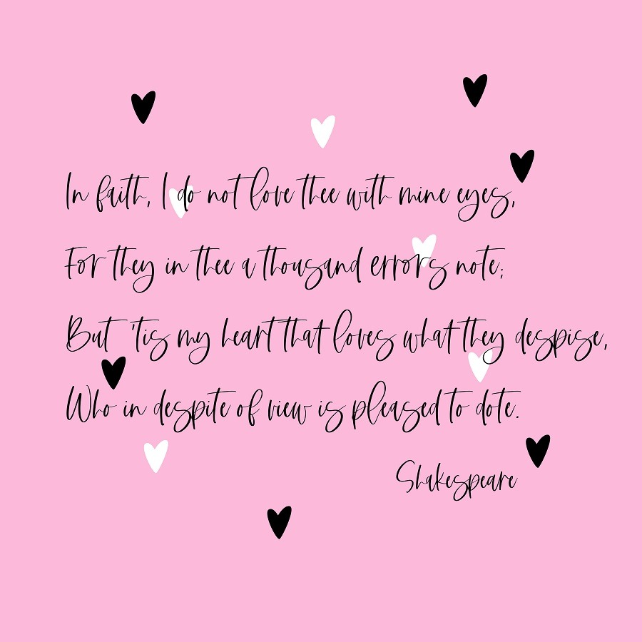 Shakespeare poem about love.